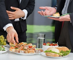 Business breakfasts and Lunches, receptions, coffee breaks.
